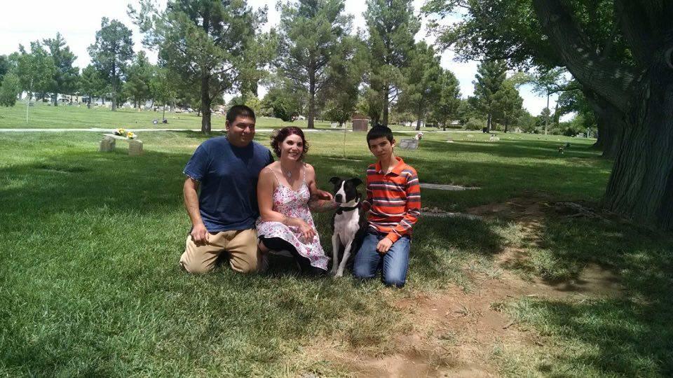 L-R: Jared Rosado, Jaime Watters, Butter, and George Rosado, St. George, Utah, July 9, 2016 | Photo courtesy of Jared Rosado, St. George News