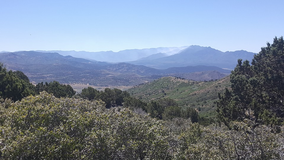 This photo was taken from above mountian meadow Sunday, showing smoke blowing into the valley. Washington County, Utah, July 10, 2016   Photo courtesy of Amanda Amidan, St. George News