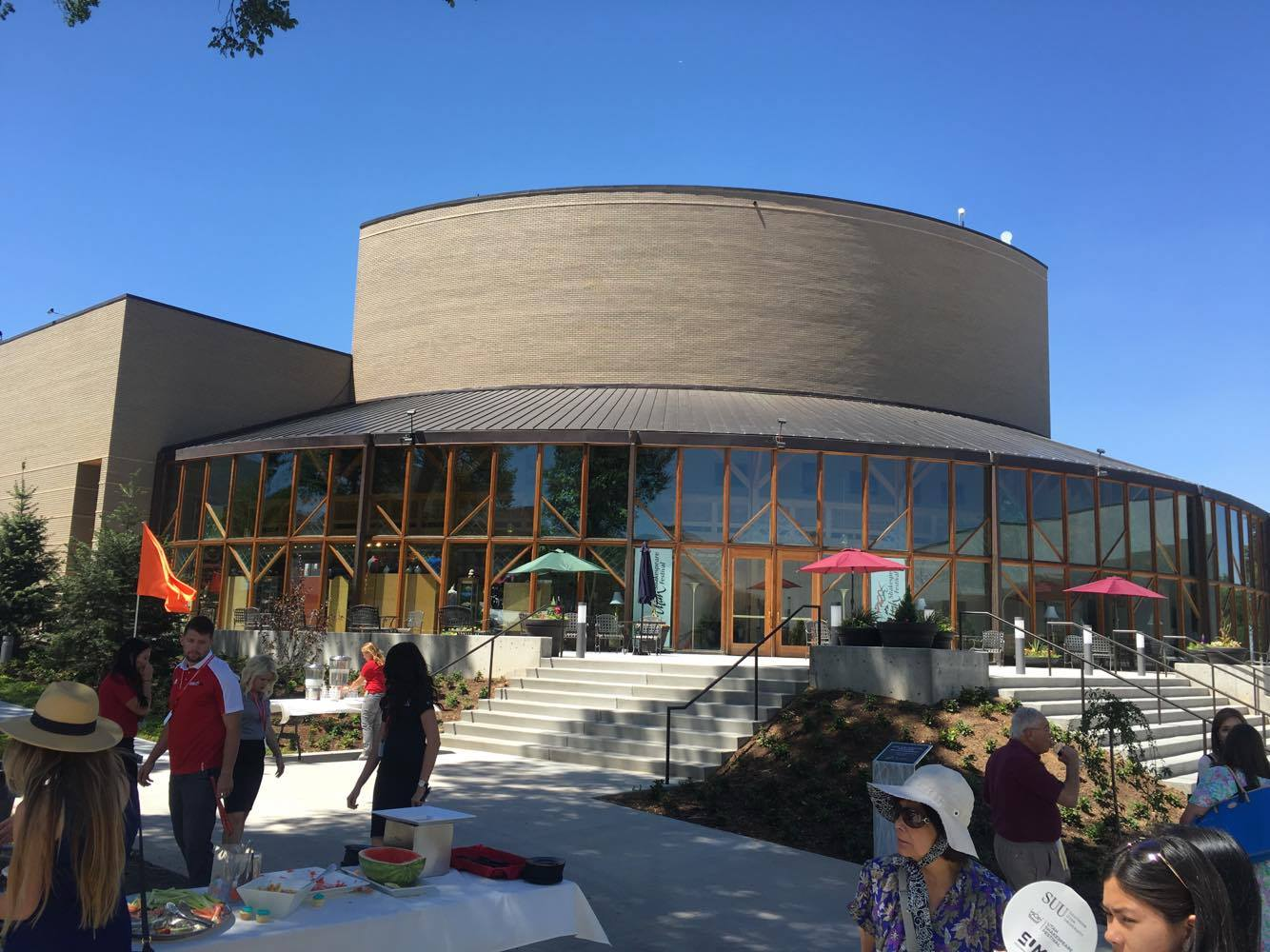 Views of the Randall L. Jones Theatre which is part of the Beverley Taylor Sorenson Center for the Arts located on the Southern Utah University campus, Cedar City, Utah, July 7, 2016   Photo by Hollie Reina, Cedar City News