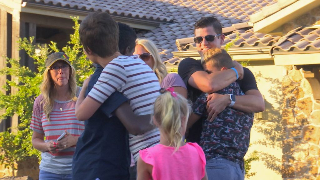 The Burke family enjoys a special hug after bringing Kai home to America, Washington City, Utah, July 17, 2016 | Photo courtesy of Darci Burke, St. George News
