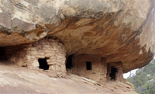 """House on Fire"" ruins are shown in Mule Canyon, near Blanding, Utah. These Anasazi ruins are found along a canyon hiking path in a dry river bed. They are one of an estimated 100,000 archaeological sites within a 1.9-million acre area of Utah's red rock country that a coalition of American Indian tribes and environmentalists want President Barack Obama to designate as a national monument to ensure protections of lands considered sacred. Blanding, Utah, June 22, 2016 