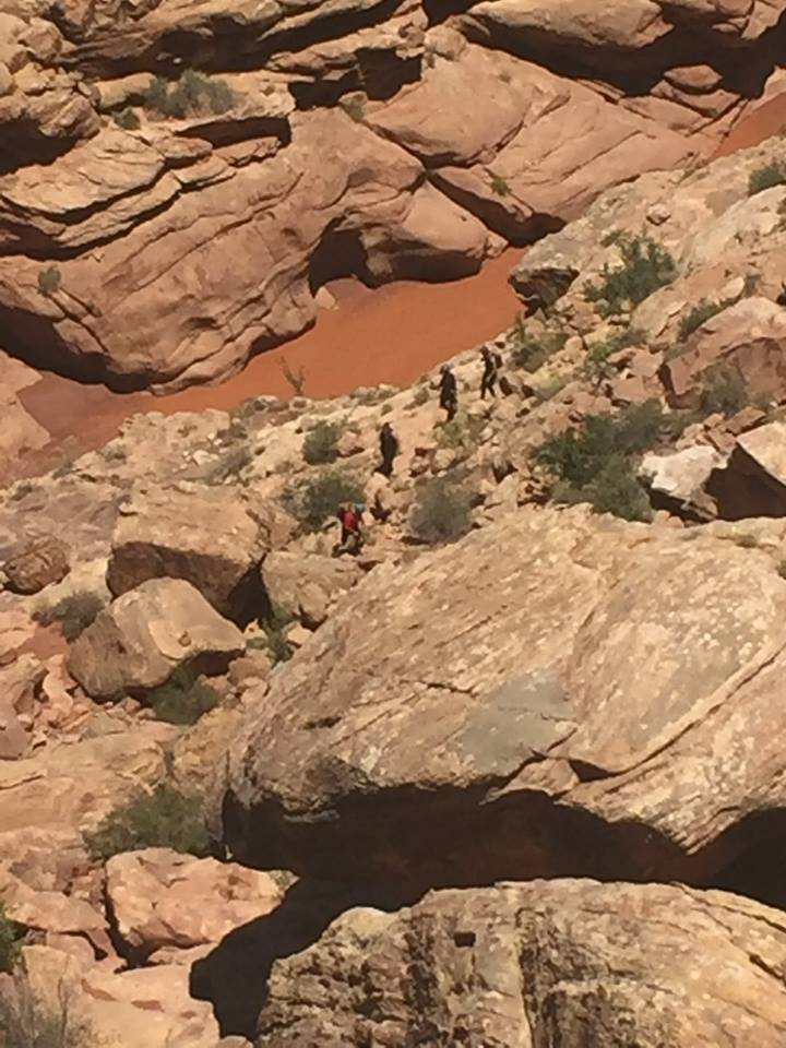 Search and Rescue crews rescued four people who were reportedly stuck in the Black Hole in the remote White Canyon, San Juan County, Utah, July 3, 2016 | Photo courtesy of San Juan County Sheriff's Office, St. George News