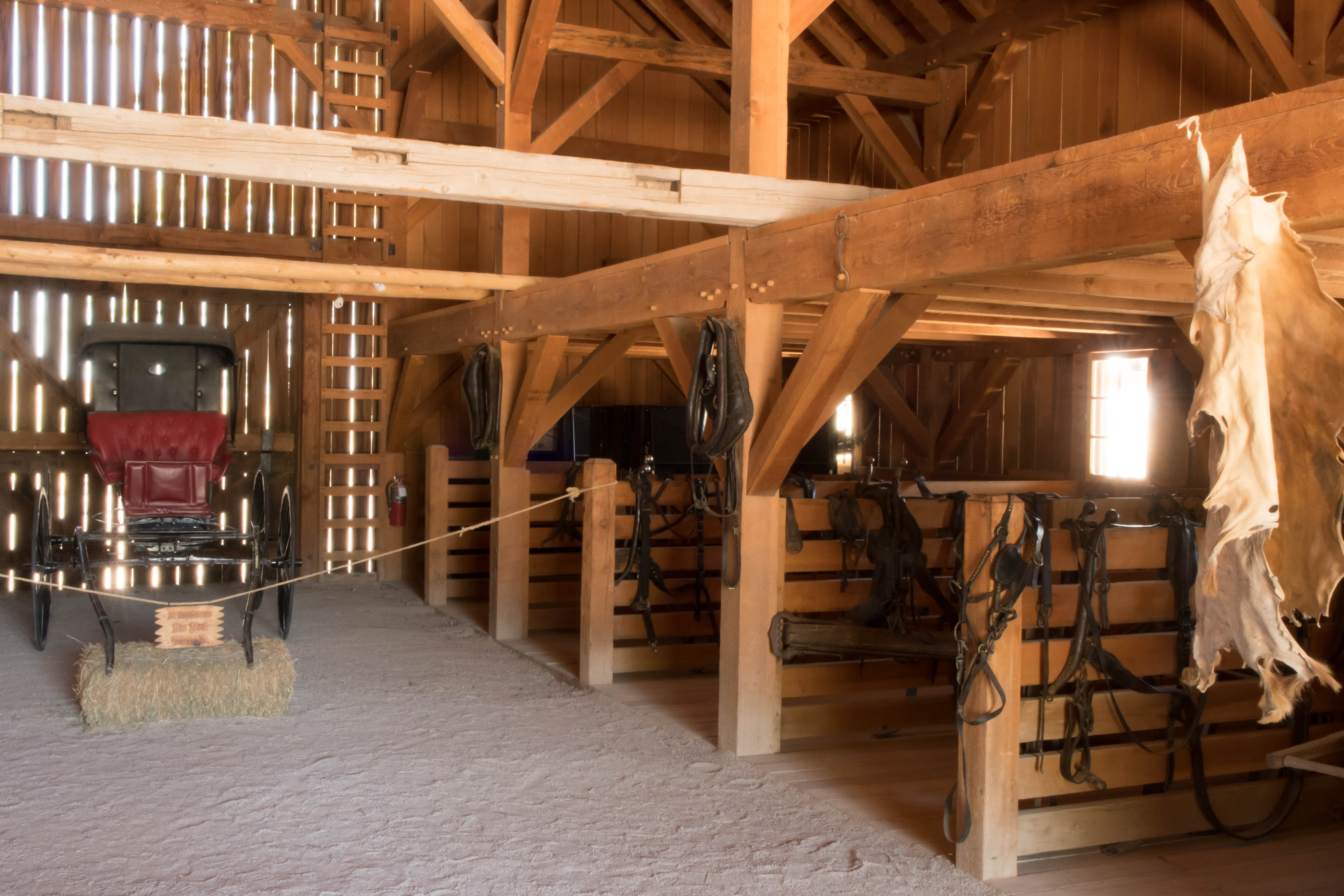 Interior of the barn at Cove Fort Historical Site, Millard County, Utah, June 25, 2016   Photo by Kathleen Lillywhite, St. George News