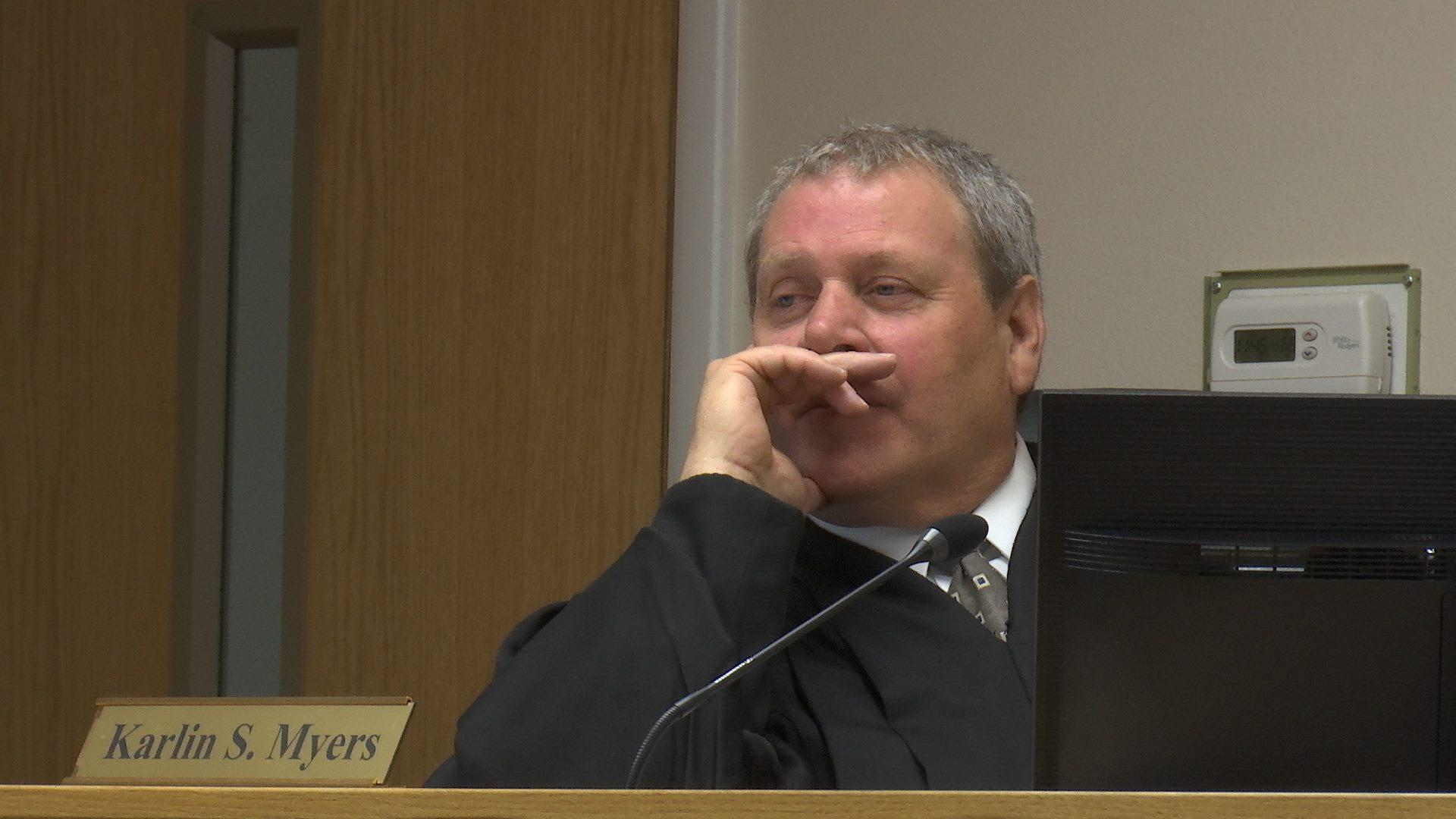 Judge Karlin Myers listens to testimony at Varlo Davenport's jury trial Wednesday, St. George, Utah, July 13, 2016   Photo by Sheldon Demke, St. George News