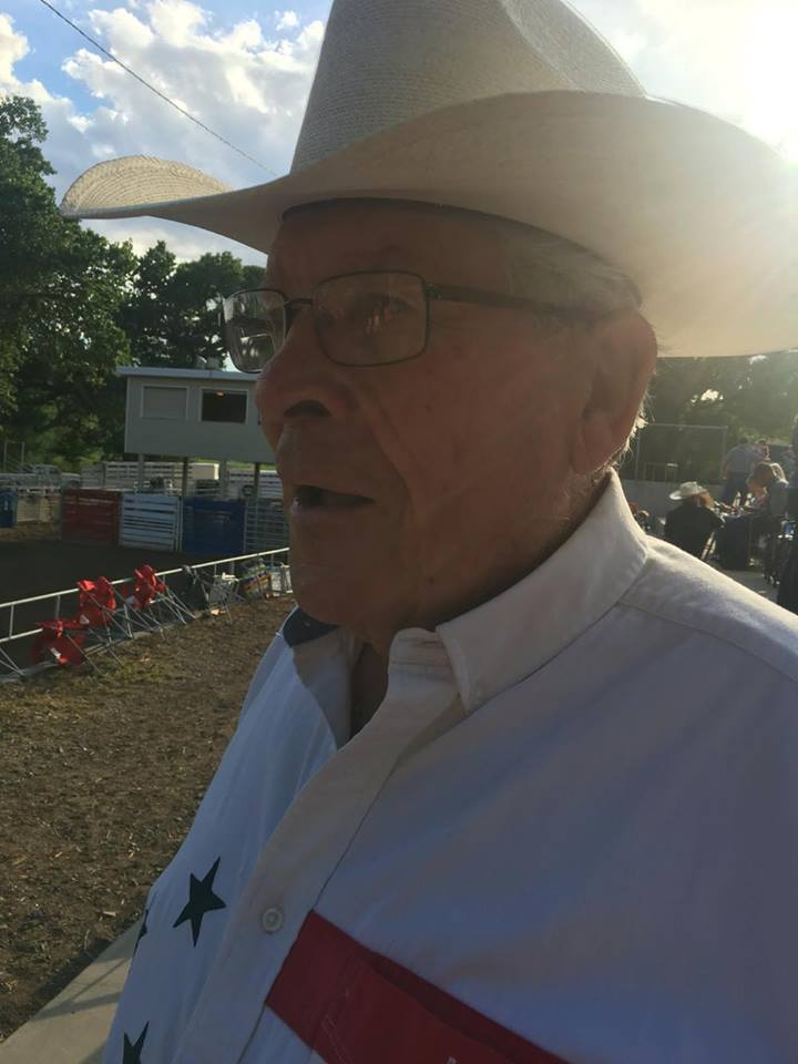 Doug Hunt talks about the first Gunlock Rodeo while attending the 71st Gunlock Rodeo, Gunlock Utah, July 1, 2016 | Photo by Hollie Reina, St. George News