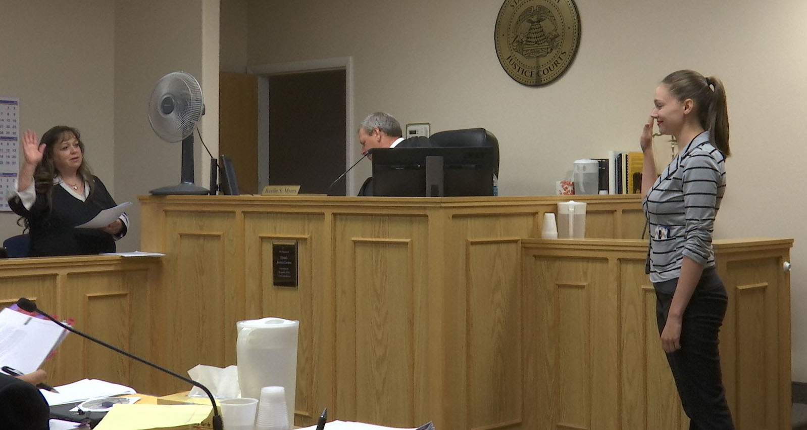 Elizabeth Peterson testifies at Varlo Davenport's jury trial Wednesday, St. George, Utah, July 13, 2016   Photo by Sheldon Demke, St. George News