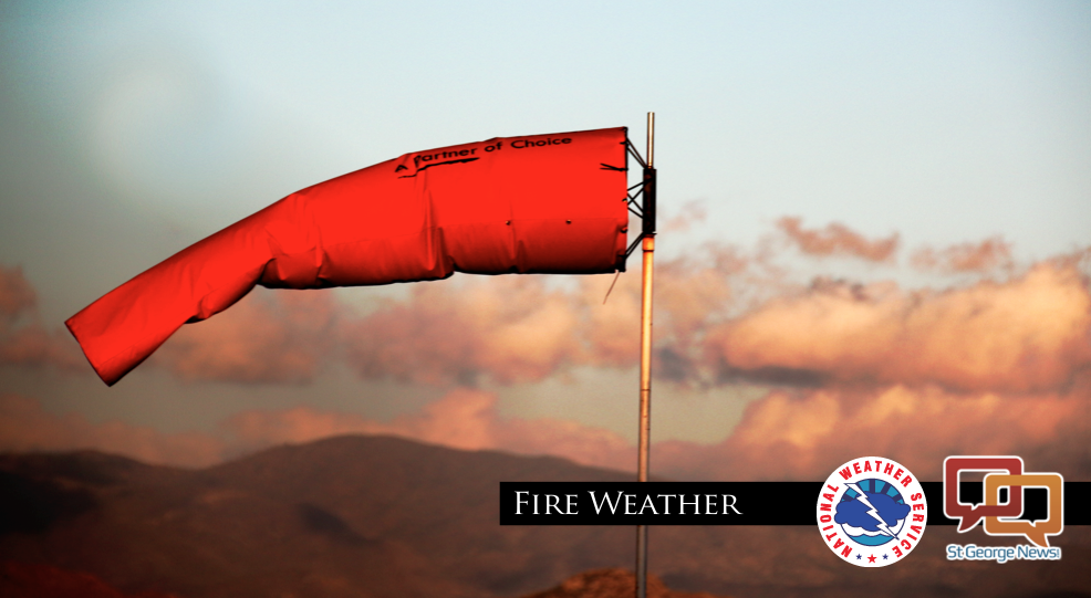 UPDATED: Winds, low humidity make for red flag warning ...