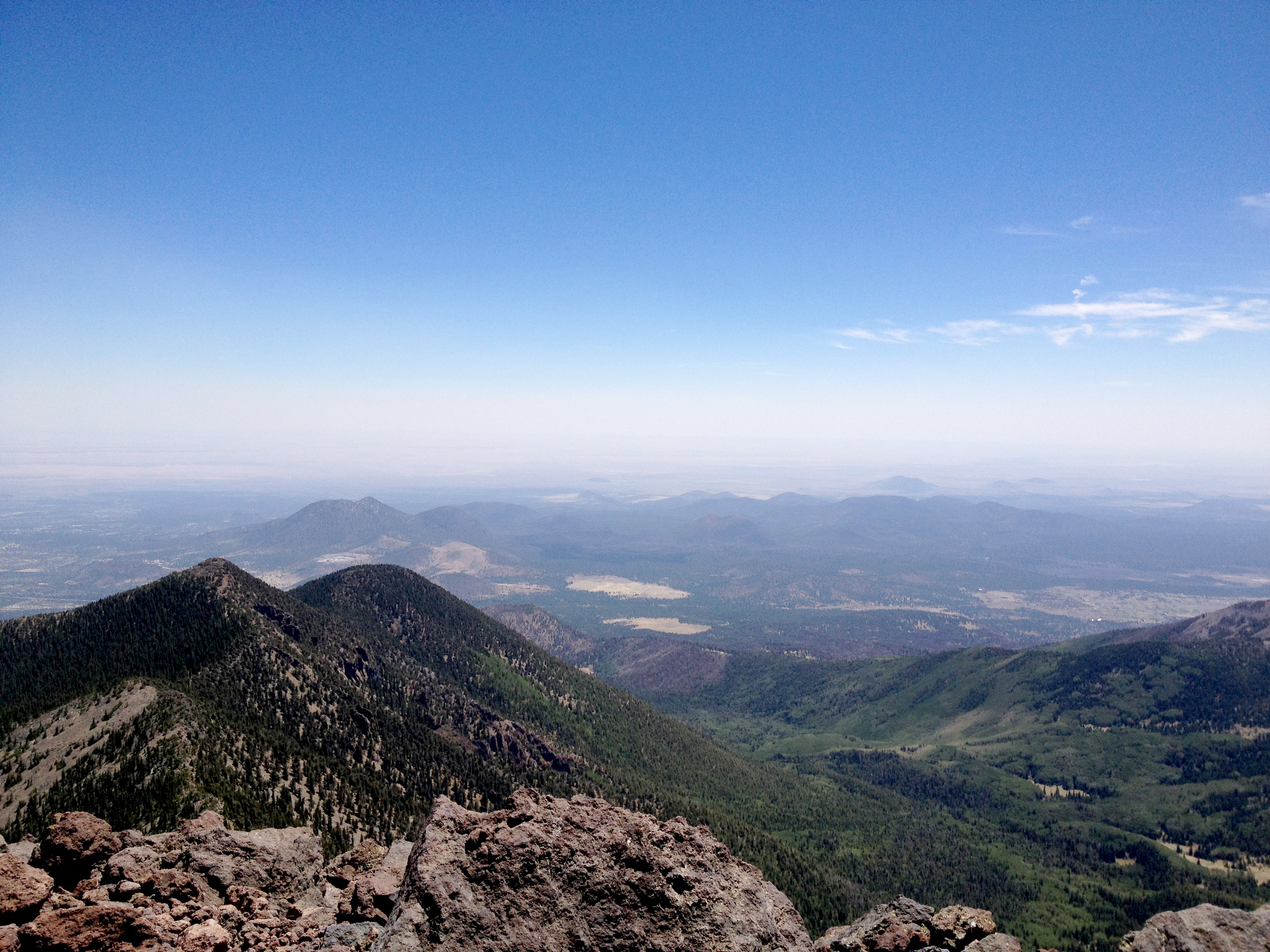 View from the summit of Humphreys Peak, the highest natural point in Arizona with an elevation of 12,637 feet and located in the Coconino National Forest, about 11 miles north of Flagstaff, Arizona   Stock image, St. George News