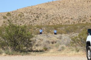 Hurricane Valley Fire and Rescue EMT's hiking back to command post after assisting with successful rescue of family near J.E.M. Trail, Hurricane, Utah, July 15, 2016   Photo by Cody Blowers, St. George News