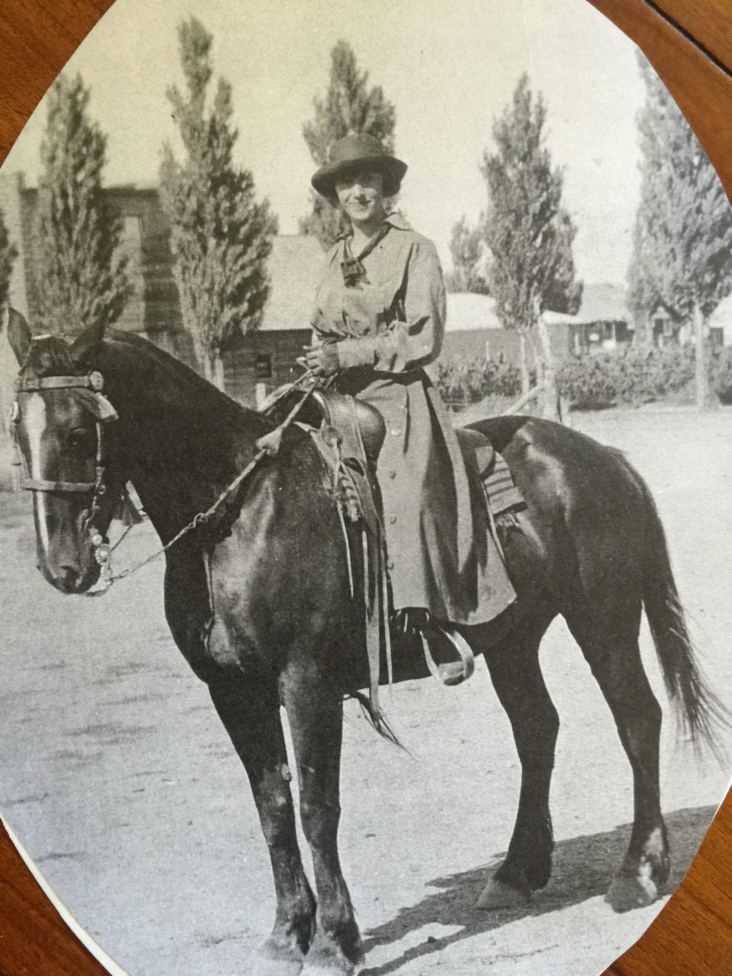 Beulah Price Staheli, Enterprise Rodeo Queen 1920. Staheli's great granddaughter Cierra Christian carries on her legacy as Rodeo Queen 2016. Enterprise, Utah, 1920 | Photo courtesy of Neica Christensen, St. George News