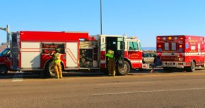 Hurricane Valley Fire District responds to two-car collision in Hurricane, Utah, July 15, 2016 | Photo by Cody Blowers, St. George News