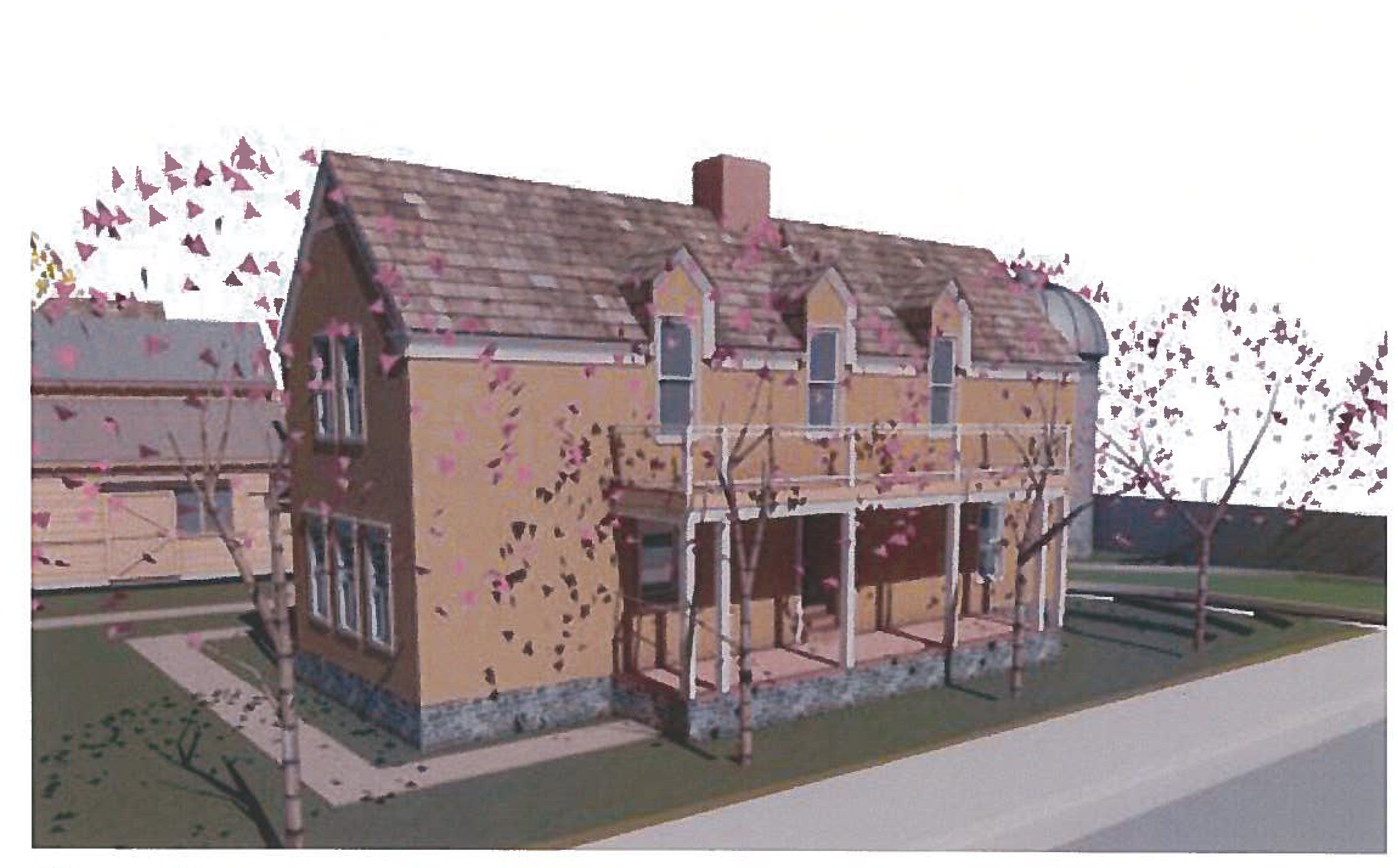 Architectural drawing of a proposed inn in Santa Clara | Image courtesy of Santa Clara City
