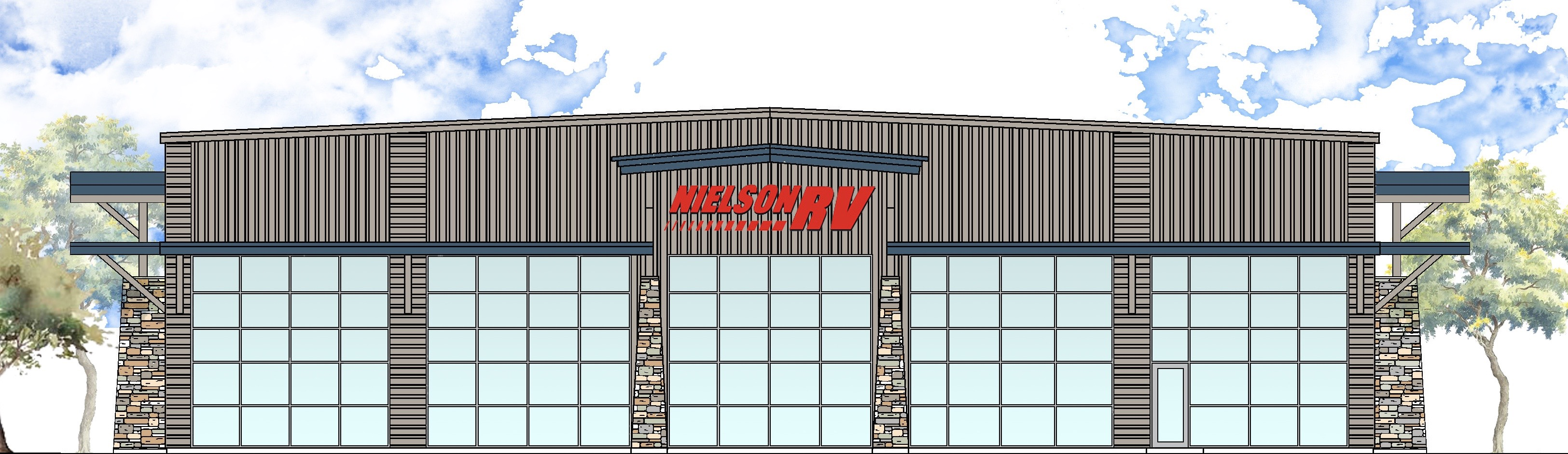 Architectrual rendering of the nwe Nielson RV facility on Sunland Drive in St. George, Utah, July 7, 2016   Photo by Julie Applegate, St. George News