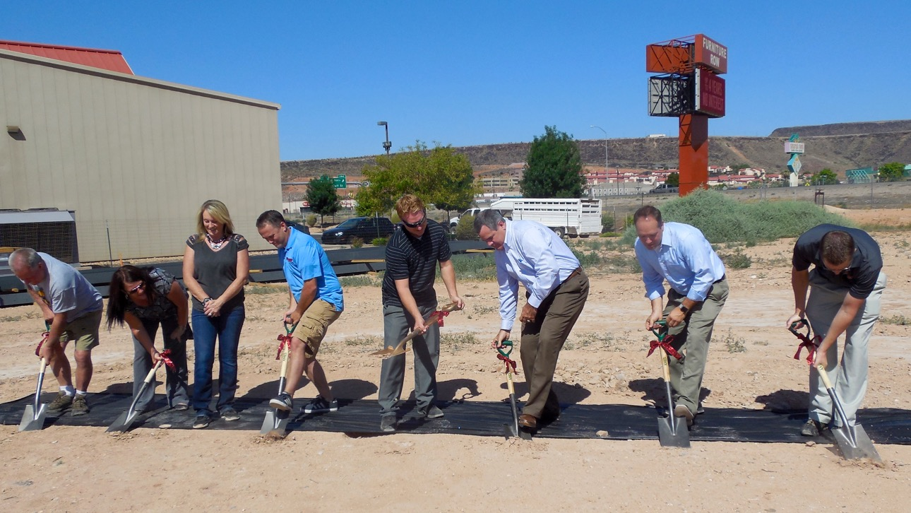 Nielson RV breaks ground Thursday on a new facility on Sunland Drive in St. George, Utah, July 7, 2016 | Photo by Julie Applegate, St. George News
