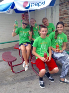 Pierce Adamson poses with other youth from his LDS Ward at Youth Conference, July 2015 | photo courtesy of Kayley Wilson