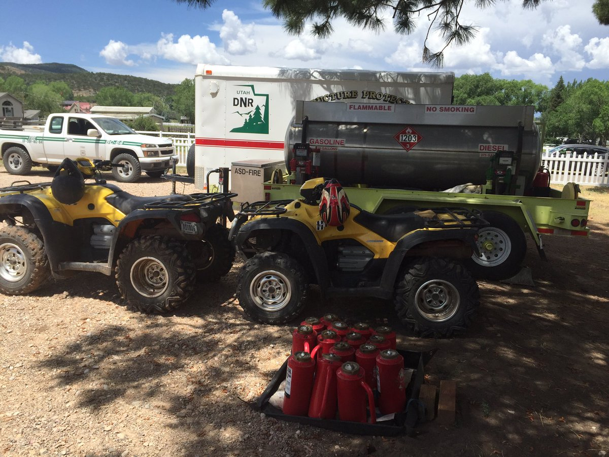 After receiving moisture, fire crews waited for the Saddle Fire to dry out with burn equipment ready when conditions allowed for burnout to secure fire lines in the Pine Valley Wilderness of the Dixie National Forest, Washington County, Utah, July 3, 2016 | Photo courtesy of NIMO, St. George News
