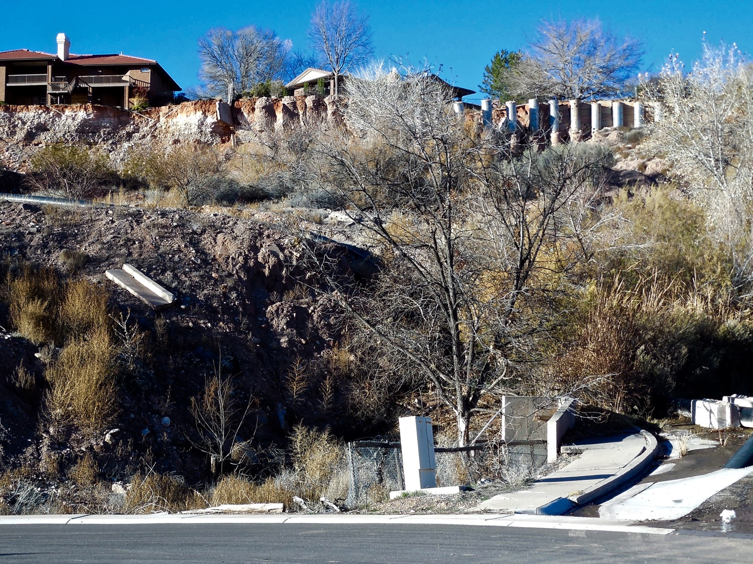 A slow-moving landslide in Santa Clara destroyed homes and forced the closure of Truman Drive, Santa Clara, Utah, Dec. 23, 2015 | Photo by Julie Applegate, St.