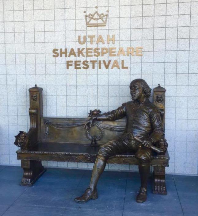 Shakespeare statue Cedar City News