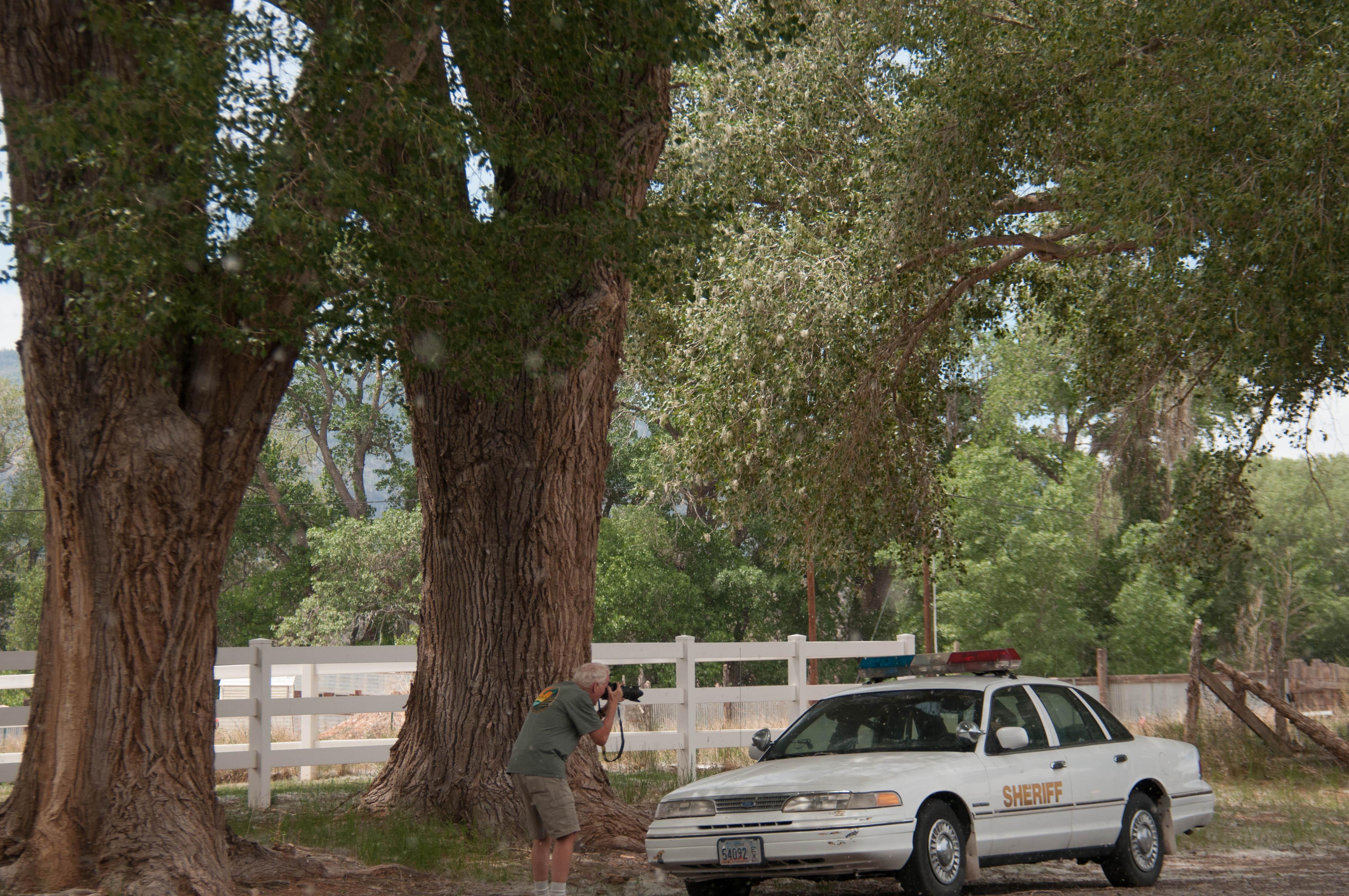 Sheriff's car reminder to slow down, Torrey, Utah, June 2016 | Photo by Kathy Lillywhite, St. George News