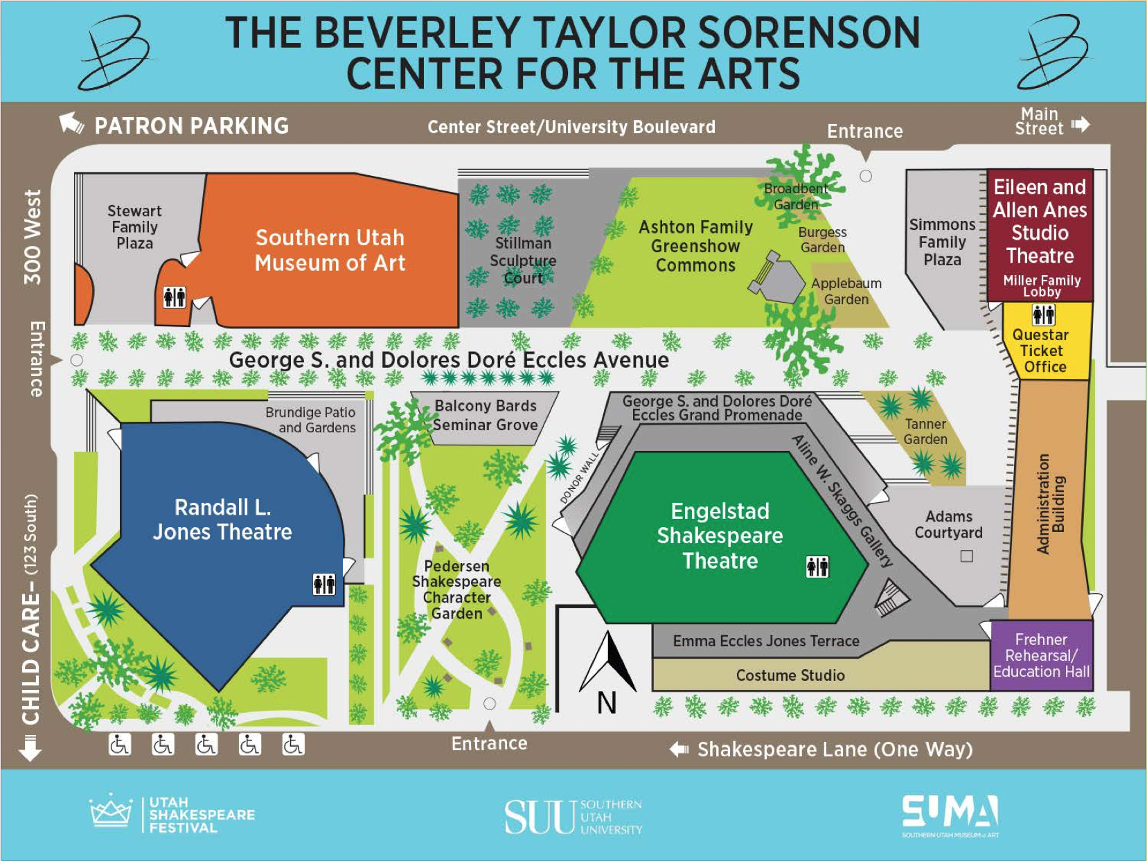 The Beverley Sorenson Center for the Arts 2016 | Site map courtesy of The Beverley; St. George News | Click on image to enlarge