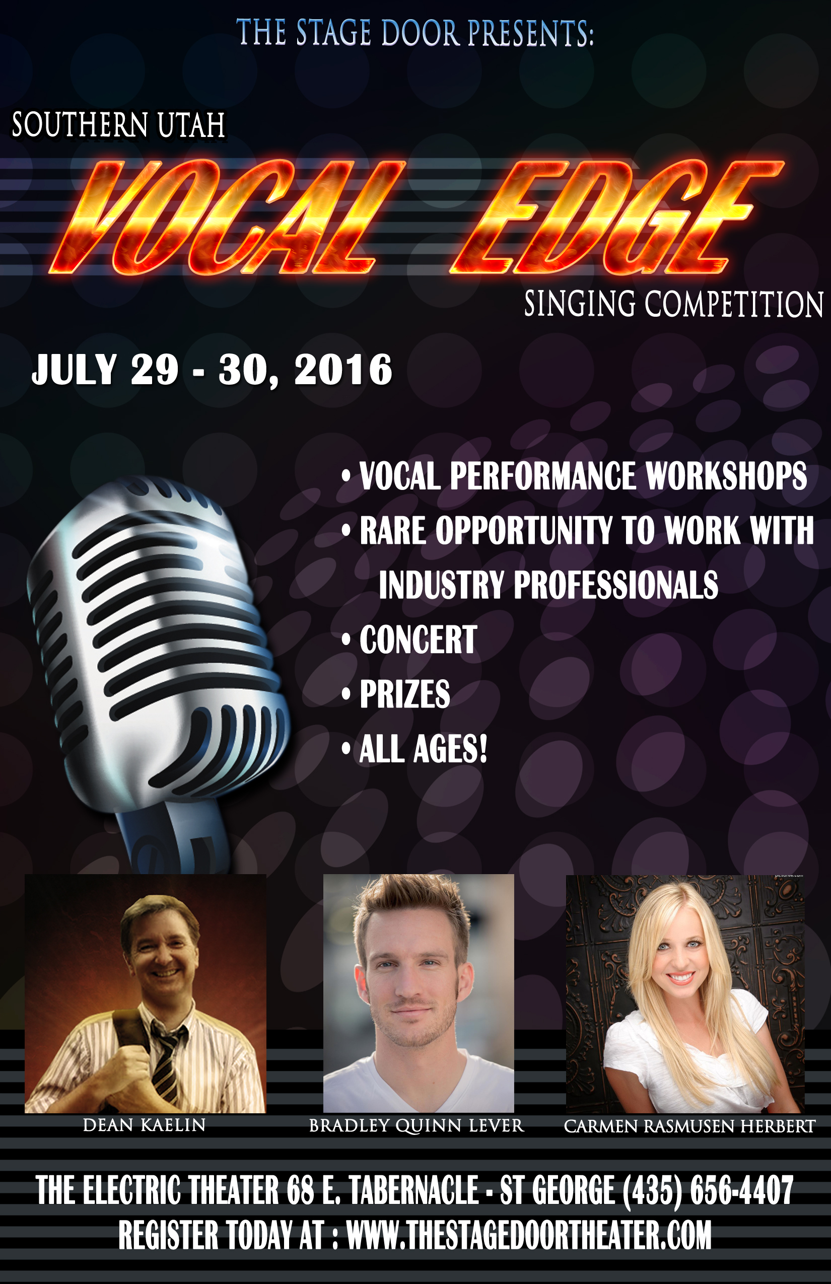 Sign up for 'Vocal Edge,' singing competition featuring