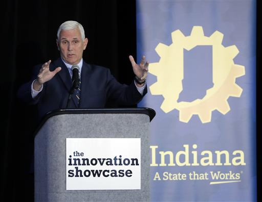 Indiana Gov. Mike Pence speaks during the Innovation Showcase, Thursday, July 14, 2016, in Indianapolis, In. | AP Photo by Darron Cummings, St. George News