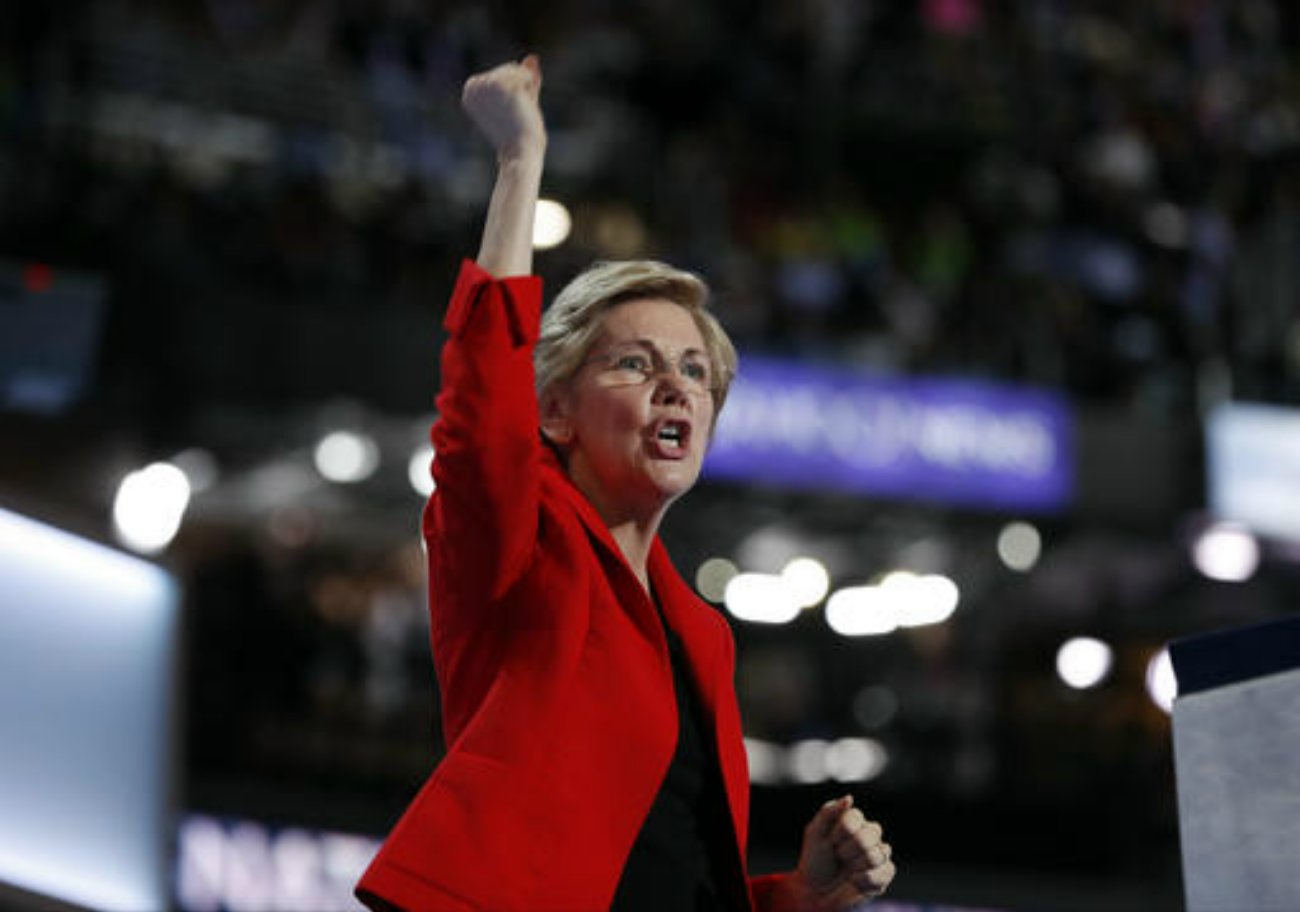 Sen. Elizabeth Warren, D-Mass., speaks during the first day of the Democratic National Convention in Philadelphia, Pennsylvania, July 25, 2016 | AP Photo by Carolyn Kaster courtesy of The Associated Press, St. George News