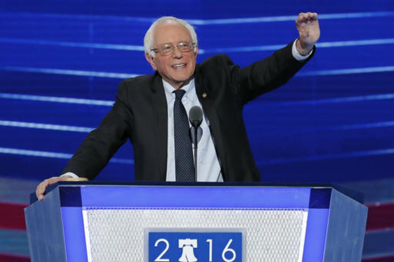 Former Democratic presidential candidate, Sen. Bernie Sanders, I-Vt., waves to delegates before speaking during the first day of the Democratic National Convention in Philadelphia, Pennsylvania, July 25, 2016   AP Photo by J. Scott Applewhite courtesy of The Associated Press, St. George News