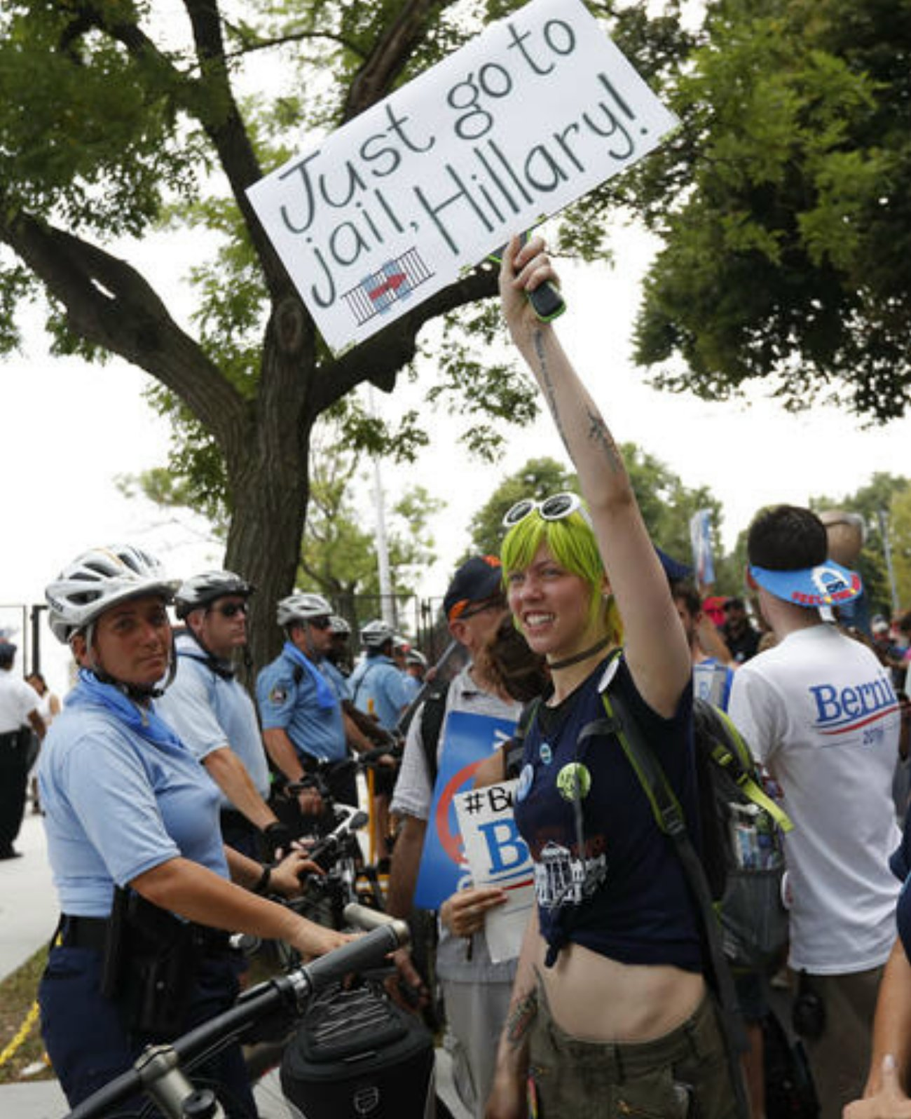 Supporters of Sen. Bernie Sanders, I-Vt., march during a protest in downtown on, Monday, July 25, 2016, in Philadelphia, during the first day of the Democratic National Convention, Philadelphia, Pennsylvania, July 25, 2016 | AP Photo/Alex Brandon courtesy of The Associated Press, St. George News