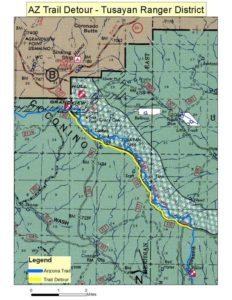 Two lightning-caused wildfires are being allowed to burn in the Tusayan Ranger District of the Kaibab National Forest, Arizona, July 5, 2016 | Graphic courtesy U.S. National Forest Service, St. George News