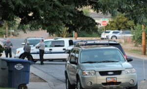 Male suspect was arrested after pursuit with officers where shots were fired in the area of E. 70 North and N. 60 East in La Verkin, Utah, July 6, 2016 | Photo by Cody Blowers, St. George News