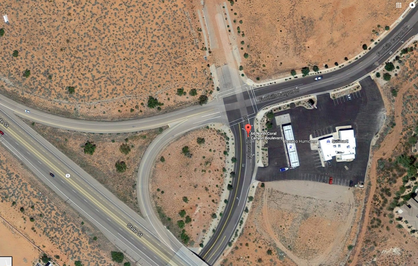 General location of a new fire station that will be jointly-run by the Washington City Fire Department and Hurricane Valley Fire Special Services District. | Image courtesy of Google Maps, St. George News