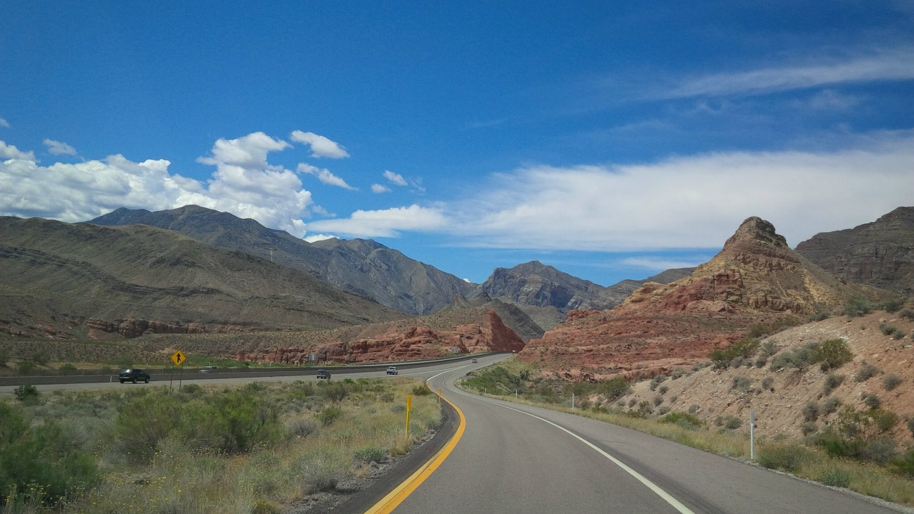 A segment of the Arizona stretch of I-15 neat the Virgin River Gorge, Mohave County, Arizona, circa May 2016   Photo courtesy of the Arizona Department of Transportation, St. George News