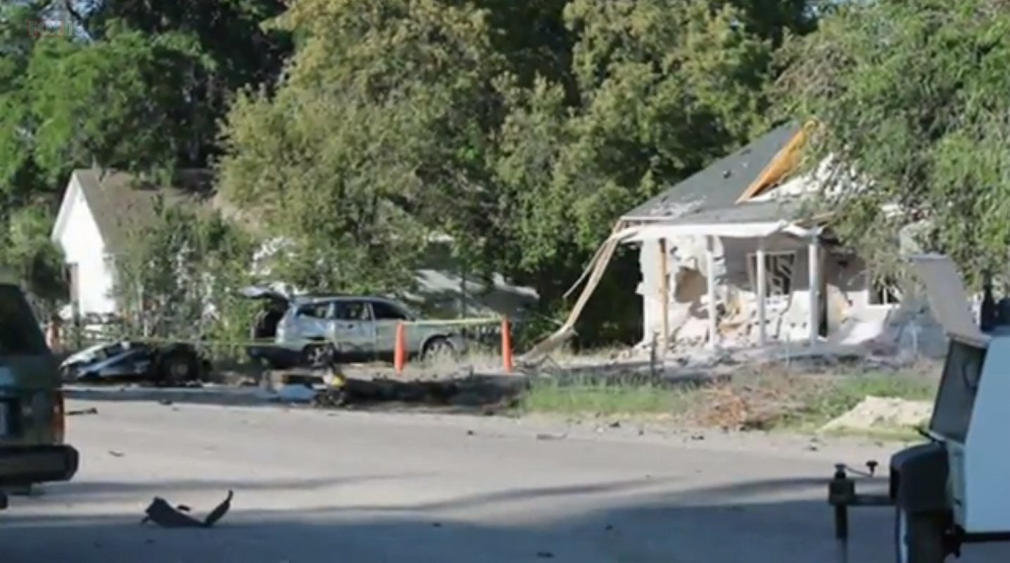 Scene of the explosions in on 5th St. in Panaca, Nevada, July 14, 216 | Photo courtesy of Fox 13 News, St. George News