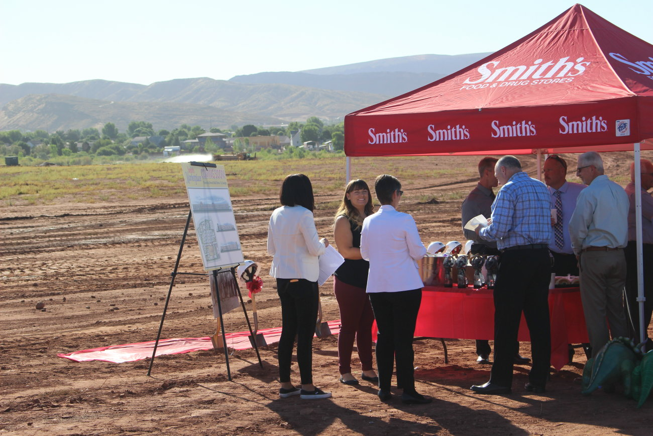 At the official groundbreaking of a new Smith's Supermarket to be built at Mall Drive and Riverside Drive, St. George, Utah, July 6, 2016   Photo by Mori Kessler, St George News