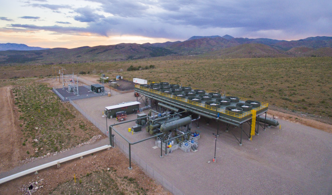 The Veyo Heat Recovery Project. The $22.3 million facility produces 7.8 megawatts of electrical power converted from waste heat taken from a natural gas compression facility, Veyo, Utah, June 28, 2016 | Photo courtesy of Utah Associated Municipal Systems, St. George News