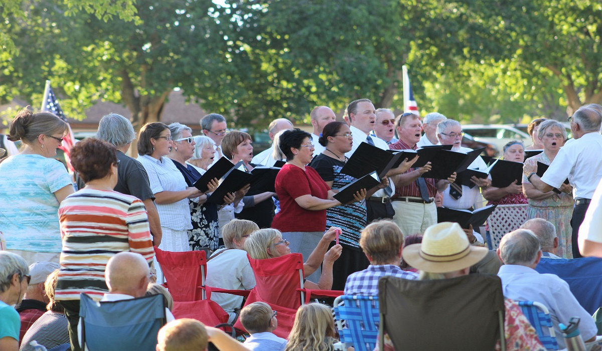 "Music provided by the Interfaith Council Choir  ""Honor and Thank Law Enforcement"" gathering at Vernon Worthen Park in St. George, Utah, July 10, 2016 