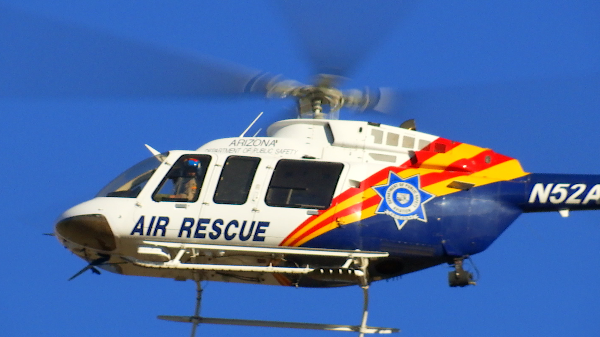 Arizona Department of Public Safety gave aerial support in Thursday's search of a portion of the Arizona Strip near Mt. Trumbull for 30-year-old David Heisler. Heisler was allegedly assaulted and then abducted from his Santa Clara, Utah, home June 27 and two suspects have since been arrested. Suspect Francis Lee McCard allegedly told police he dropped Heisler off alive in the desert location, being searched. Arizona Strip, Arizona, July 7, 2016 | Photo by Kimberly Scott, St. George News