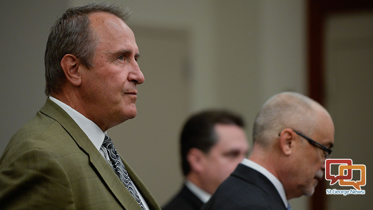 In this file photo, former Utah Attorney General Mark Shurtleff, facing public corruption charges, appears in Judge Elizabeth Hruby-Mills courtroom. Salt Lake City, Utah, Sept. 28, 2015, for a pre-trial hearing. | Courtroom pool photo by Francisco Kjolseth/Salt Lake Tribune, St. George News