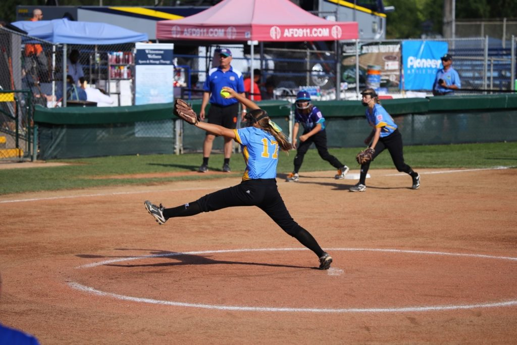 Ty Mooring at the Little League Softball World Series, Snow Canyon vs. Netherlands, Portland, Ore., Aug. 17, 2016 | Photo by Scott Miller, special to St. George News