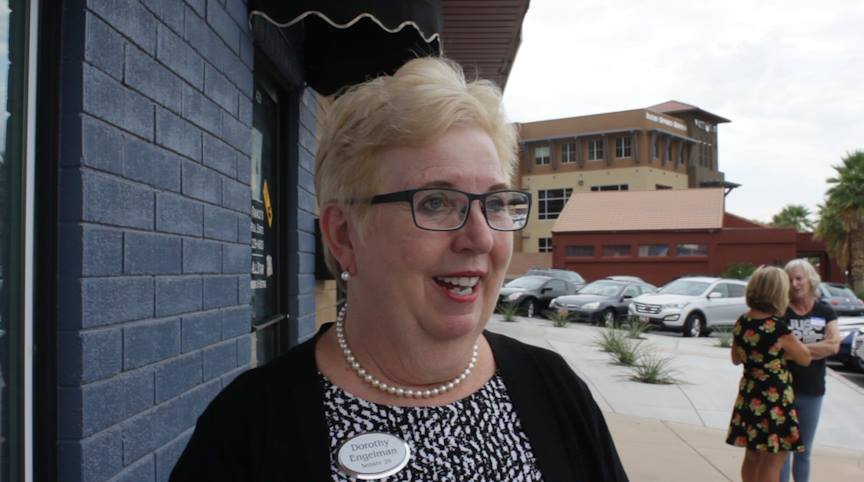 Dorothy Engelman officially launched her campaign for Utah Senate Seat 29 Thursday, St. George, Utah | Photo by Don Gilman, St. George News