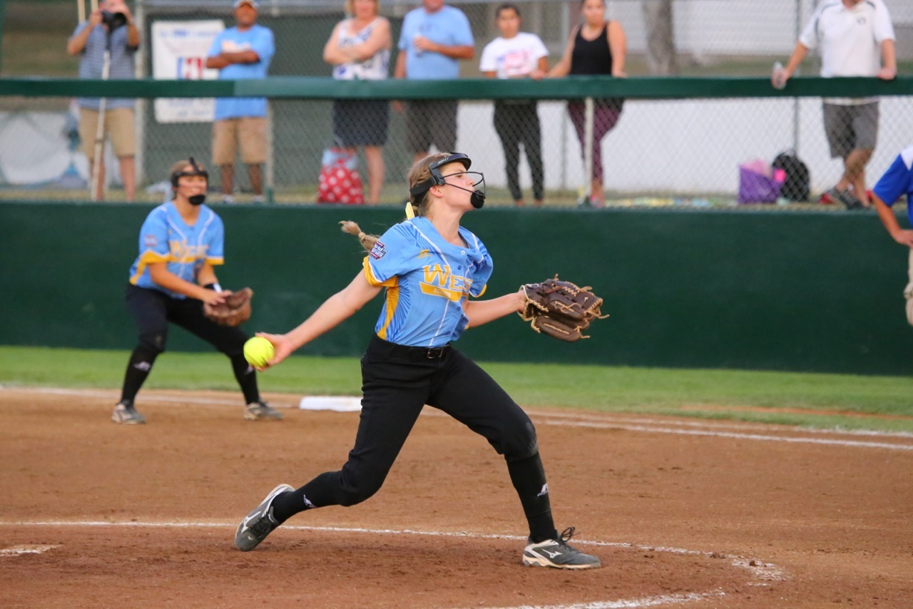 Jenna Thortkelson, Snow Canyon vs. Central USA, Little League Softball World Series, Portland, Ore., Aug. 13, 2016 | Photo by Scott Miller, special to St. George News