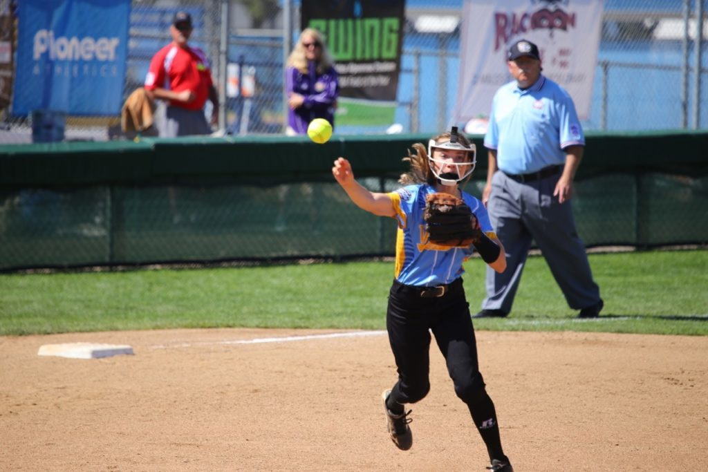 Sydney McCaul, Snow Canyon vs. Asia Pacific, Little League Softball World Series, Portland, Ore., Aug. 10, 2016 | Photo by Greg Miller, for St. George News