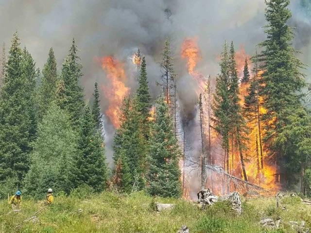Box Canyon Fire, Summit County, Utah, Aug. 16, 2016 | Photo courtesy of InciWeb, St. George News
