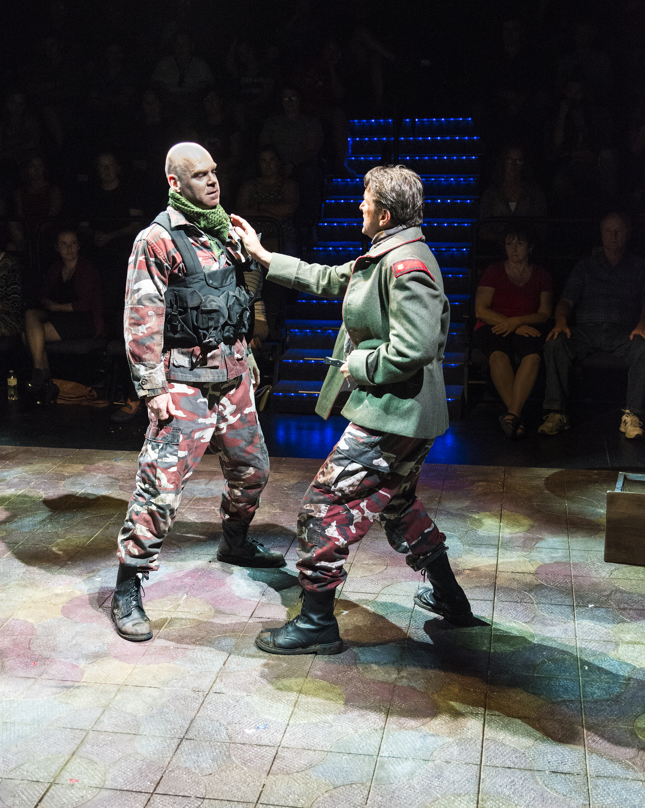 "L-R: Paul Sandberg as Strato and Jeffrey Cummings as Marcus Brutus in the Utah Shakespeare Festival's 2016 production of ""Julius Caesar."" Cedar City, Utah, date not specified 