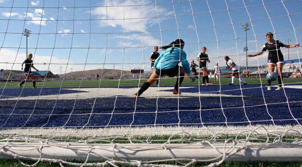 Dixie vs. Canyon View, Soccer, St. George, Utah, Aug. 27, 2016,   Photo by Robert Hoppie, ASPpix.com, St. George News
