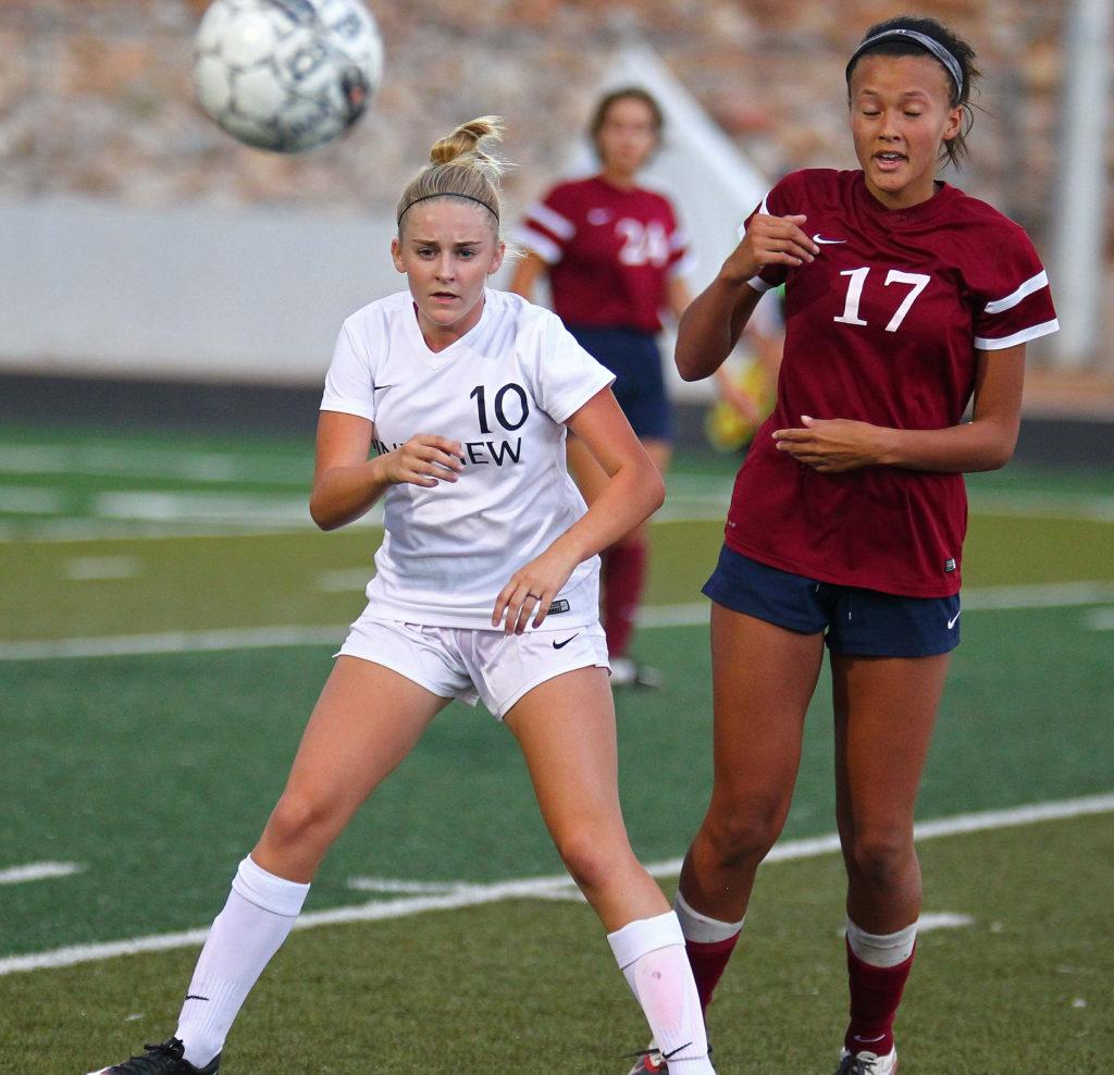Pine View's Aubrey Day (10), Pine View vs. Waterford, Girls Soccer, St. George, Utah, Aug. 23, 2016,   Photo by Robert Hoppie, ASPpix.com, St. George News
