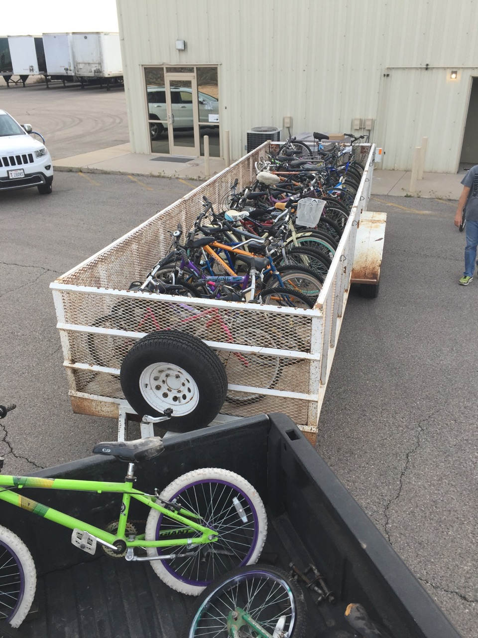 Trailer full of bikes donated to the Bicycle Collective of Southern Utah by the City of St. George. April 8, 2016 | Photo by Dannielle Larkin, St. George News