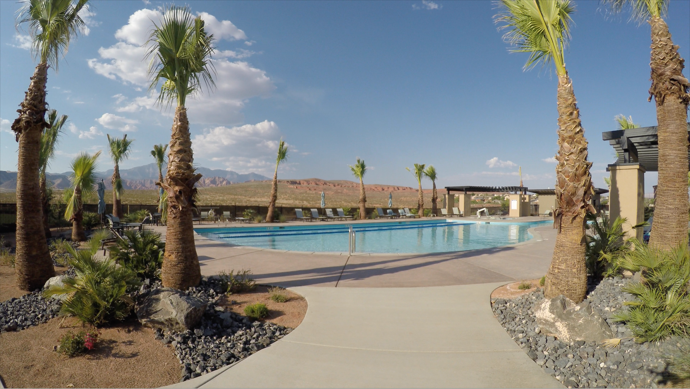 Clubhouse and pool at Brio master-planned community by John Fisher Homes Southern Utah. St. George, Utah, circa August 2016   Image courtesy of Jack Fisher Homes, St. George News