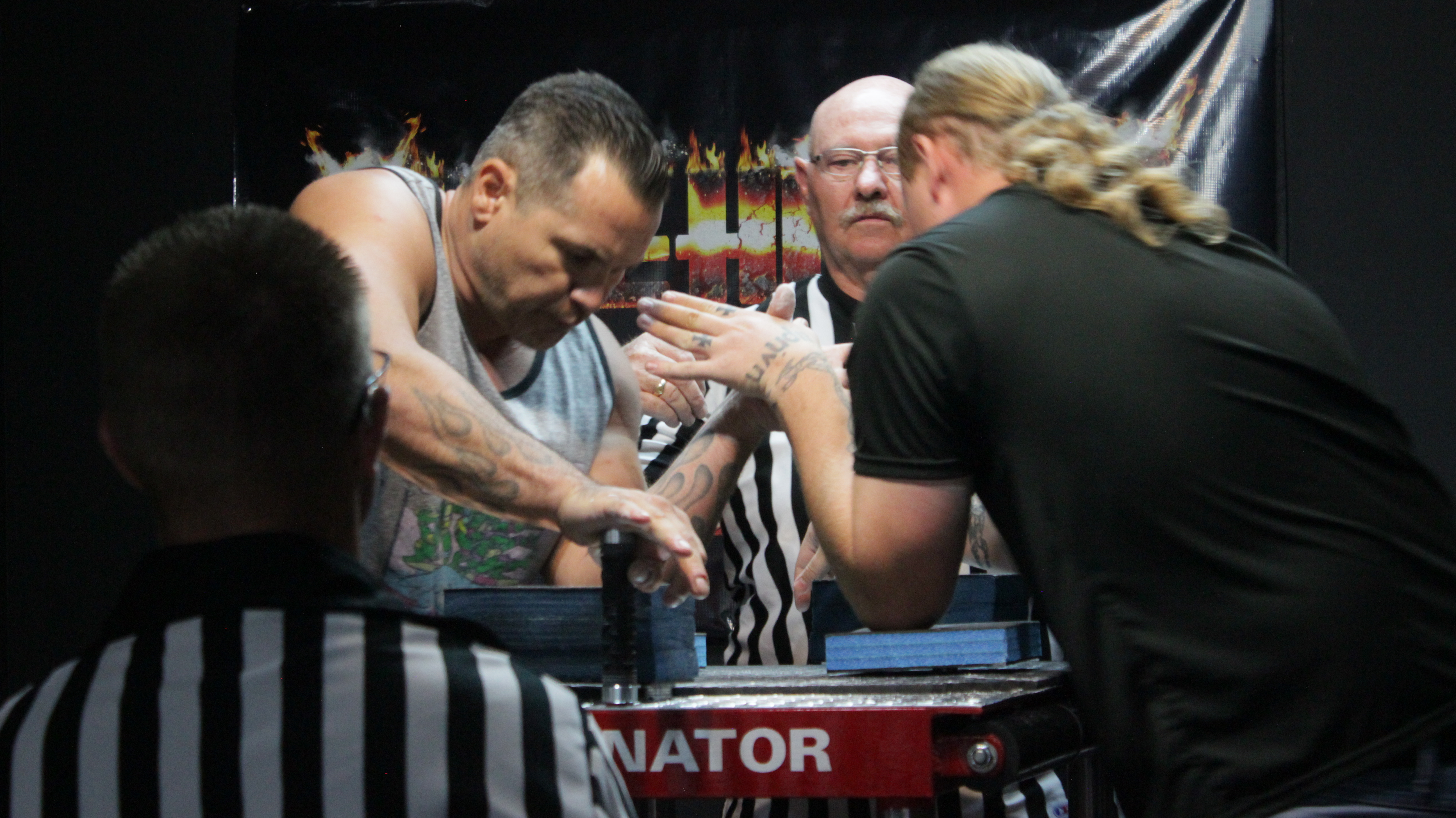 Southern Utah Arm Wrestling held a tournament at Firehouse Bar and Grill Saturday afternoon. The top three competitors from each division advanced to the national tournament to be held in Las Vegas Dec. 10. St. George, Utah, Aug 27, 2016 | Photo by Don Gilman, St. George News